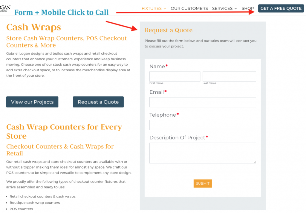 Improving Conversion Rates by Improving Website Calls to Action