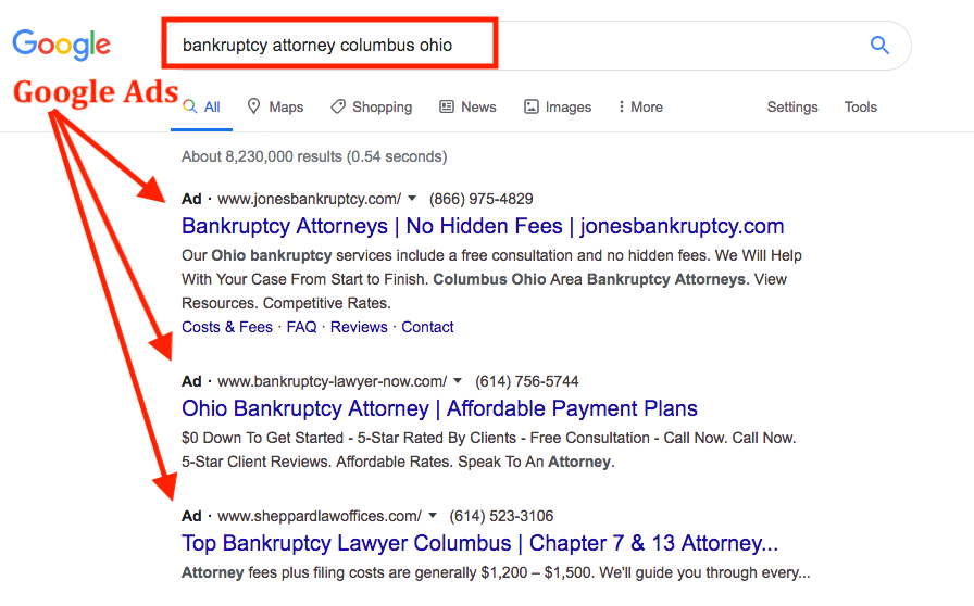 bankruptcy attorney search columbus ohio