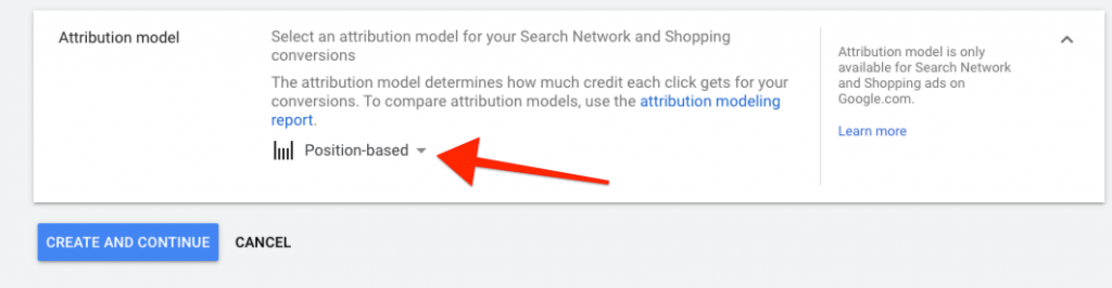 Google Ads Position Based Attribution