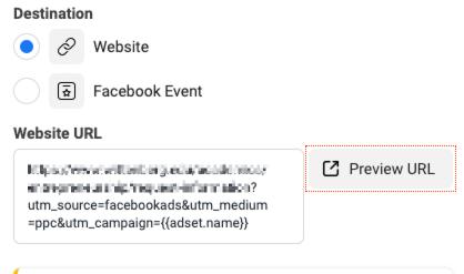 Facebook UTM Tracking Setup