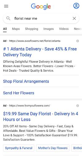 Floral Digital Marketing Ads